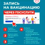 Запись на вакцинацию через портал ГОСУСЛУГ